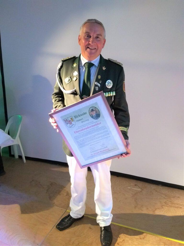 Ehrenbrudermeister Hubert Wiesing